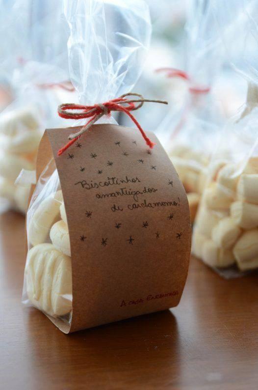 lembrancinha de natal com biscoitos