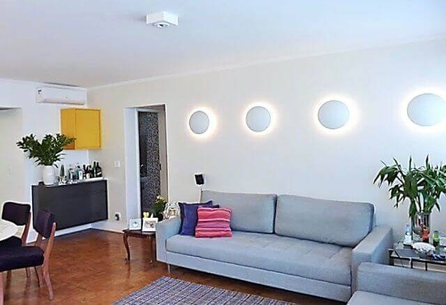 luminárias para sala com arandelas projeto adriana fornazari