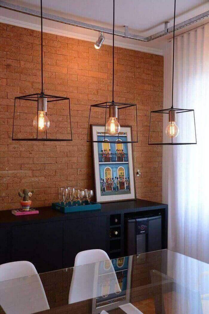 luminárias para sala com estilo industrial projeto de Nathalia Bilibio