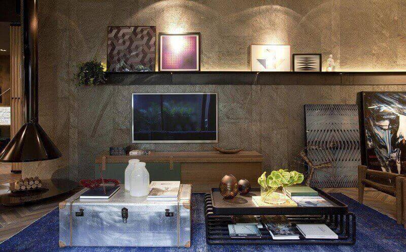luminárias para sala com arandelas projeto de juliana pippi