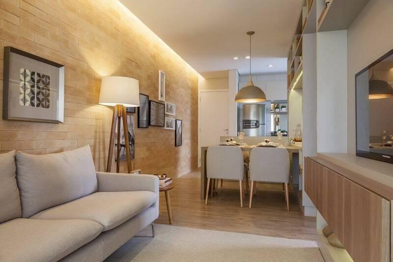 luminárias para sala com pés palito projeto de tres arquitetura