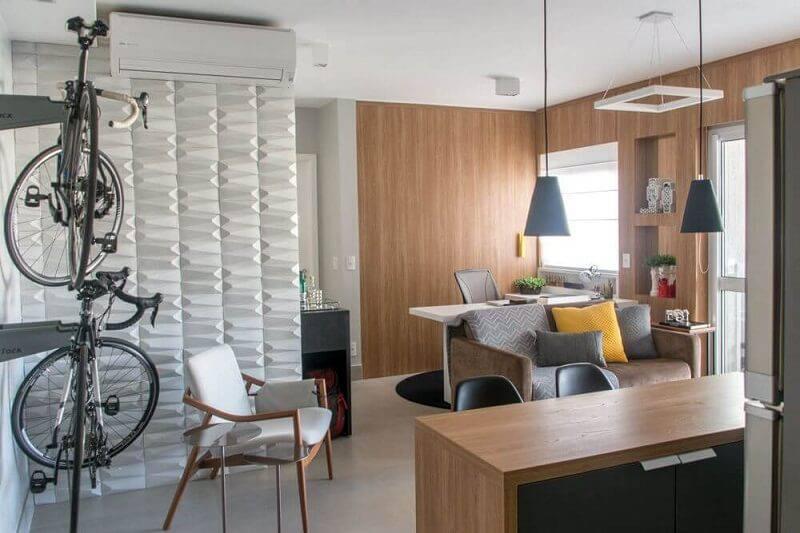 luminárias para sala com pendente e ambiente integrado projeto de Danyela Corrêa