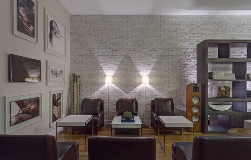 luminárias para sala de chão projeto de renata basques