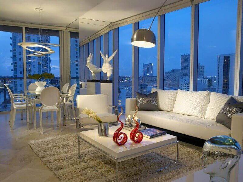 luminárias para sala podem ser modernas projeto Léo Shehtman
