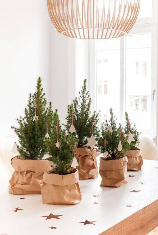 mini pinheiro como lembrancinha de natal