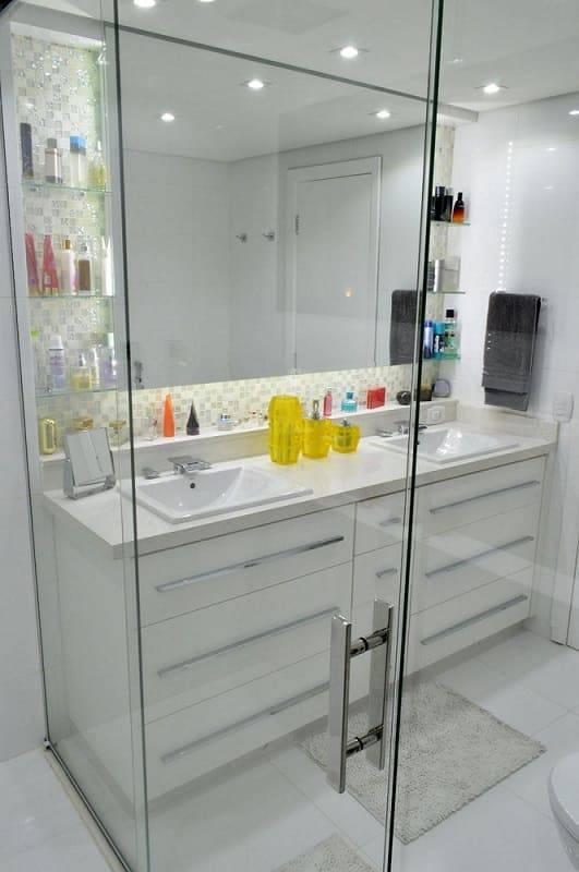 porta de vidro banheiro pequeno vinicius santini 44049