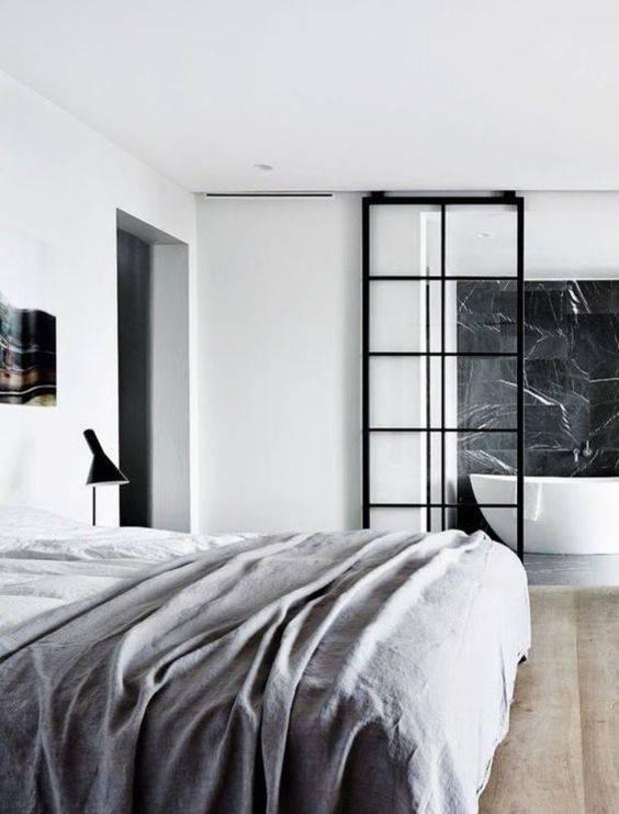 porta de vidro com esquadria minimalista
