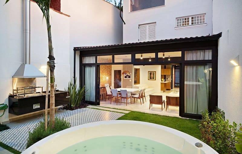 porta de vidro de correr sala de estar jardim odvo arquitetura 154861
