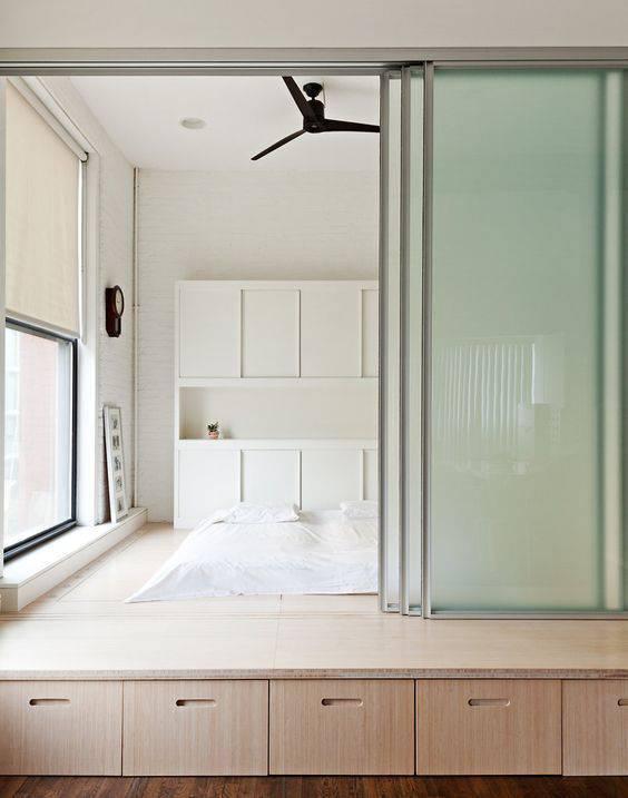 porta de vidro quarto funcional