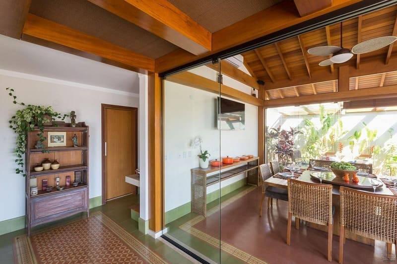porta de vidro sala de jantar jannini sagarra arquitetura 55104
