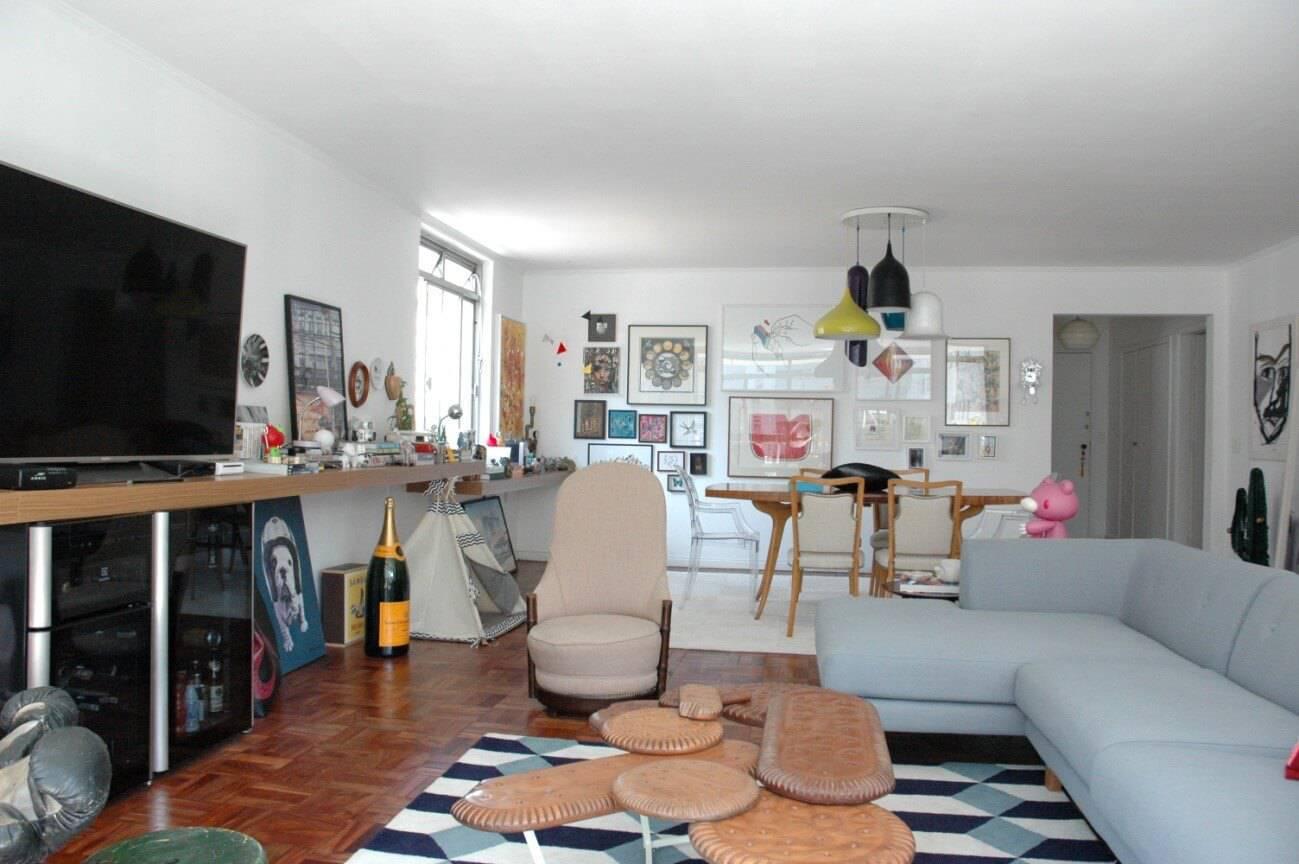 sala de estar e jantar conjugada