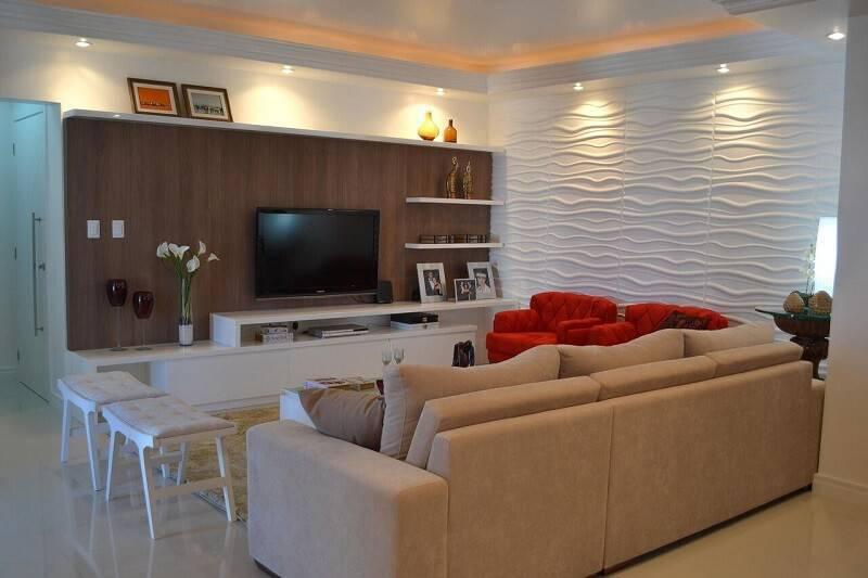 Sala planejada 30 modelos incr veis para decorar for Cores para sala de estar 2017