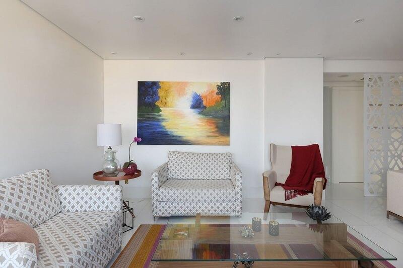 sala clean e sofisticada