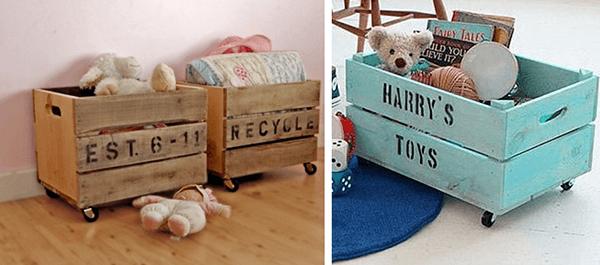 Artesanato em madeira organizadores de brinquedos