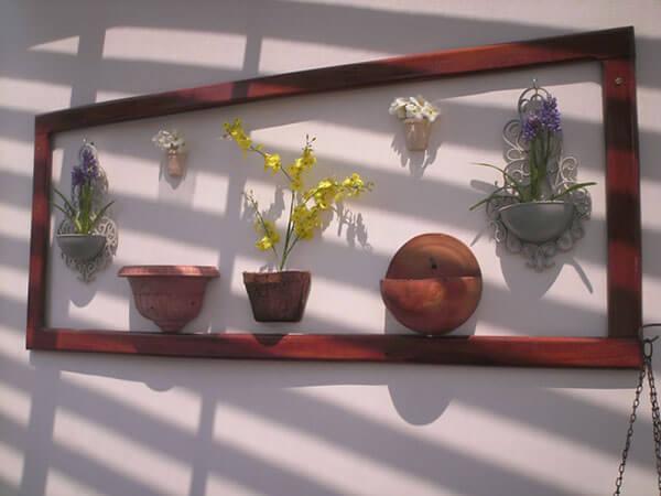 Artesanato em madeira painel