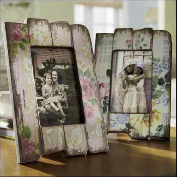 Artesanato em madeira porta retrato