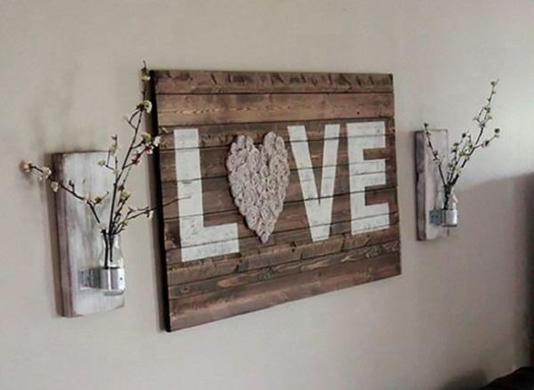 Artesanato em madeira quadro decorativo