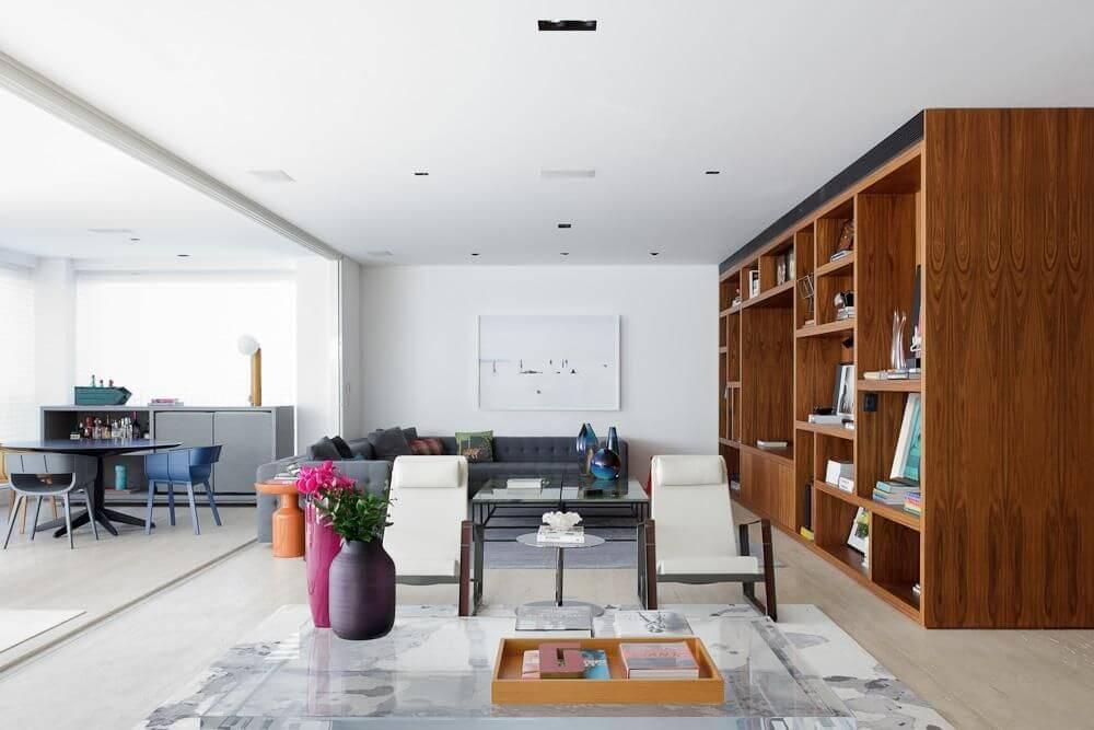 Bandeja de artesanato em madeira Projeto de Suite Arquitetos