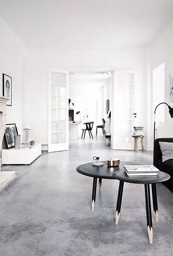 Casa clean com cimento queimado