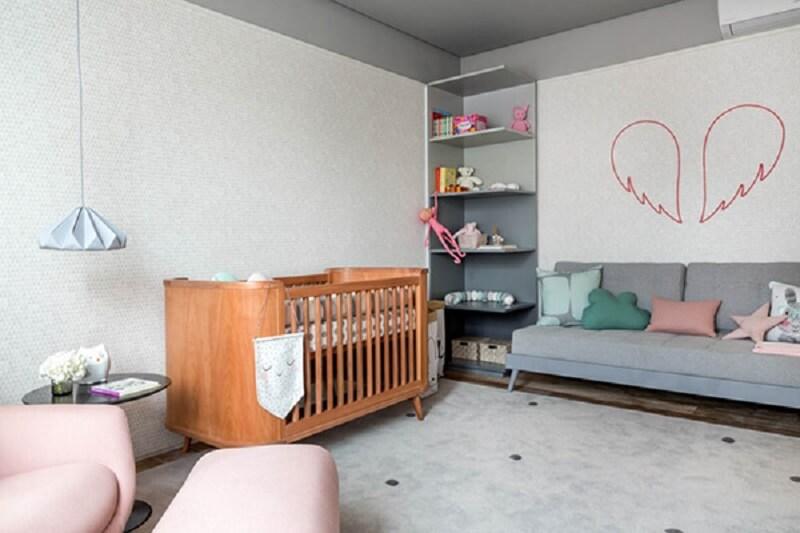 Decoração de quarto de bebê sofisticado