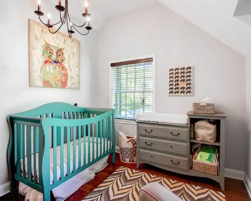 Decoração de quarto de bebê estilo safari