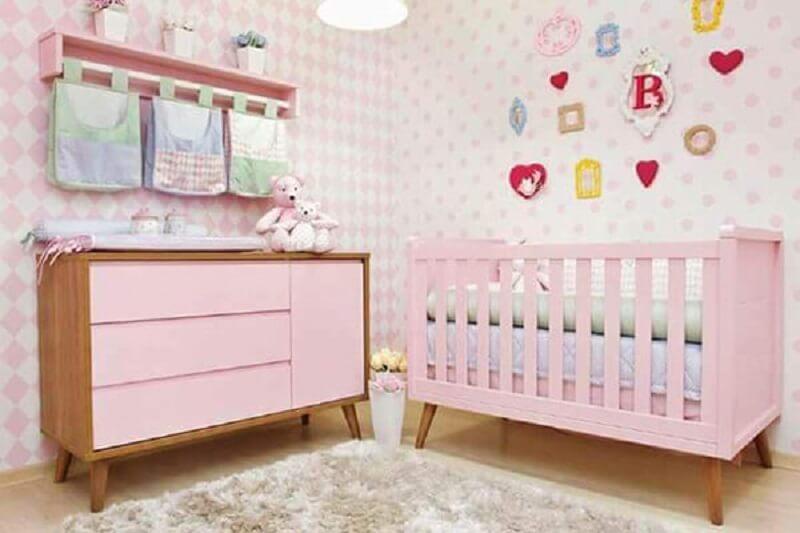 Decoração de quarto de bebê retrô