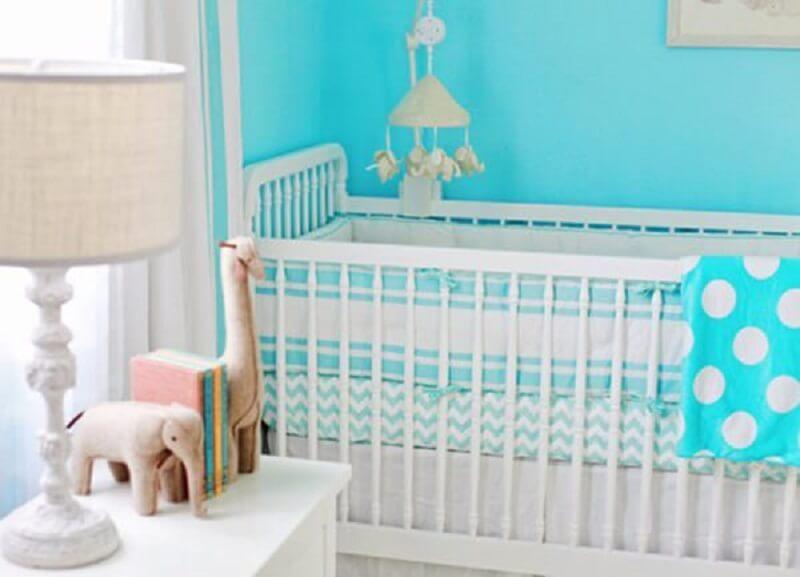 Decoração de quarto de bebê turquesa