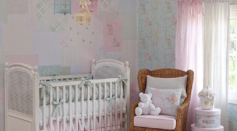 Decoração quarto de bebe estilo vintage
