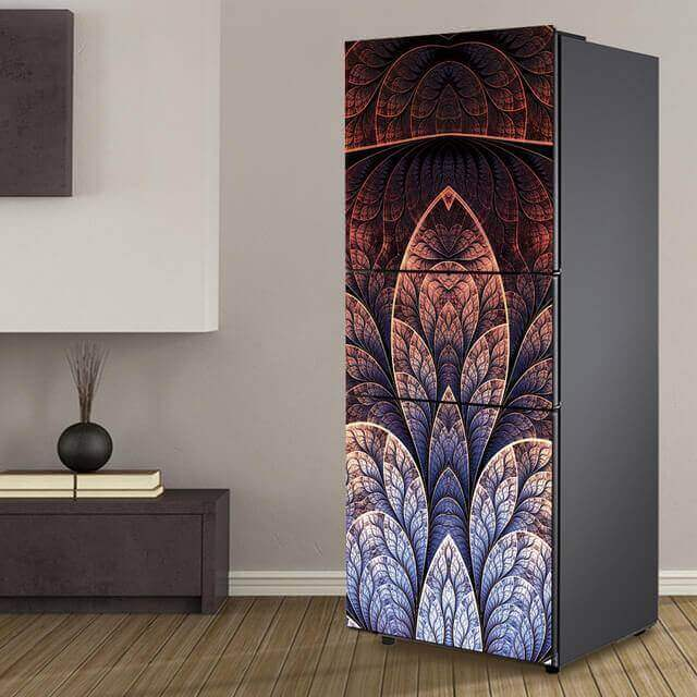Envelopamento de geladeira com estampa em degradê. Fonte: Pinterest
