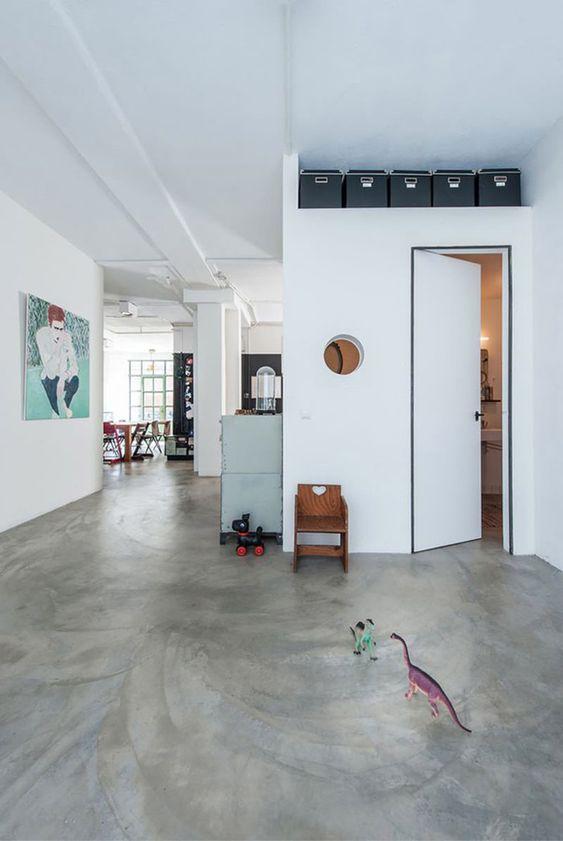Piso de cimento queimado para decoração moderno