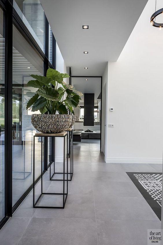 Piso de cimento queimado para sala de estar