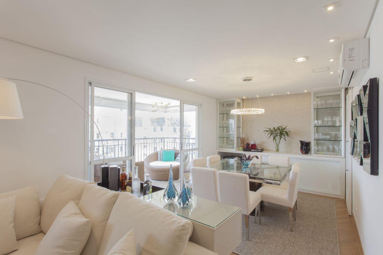 Sala de jantar e estar integradas Projeto de TT Interiores