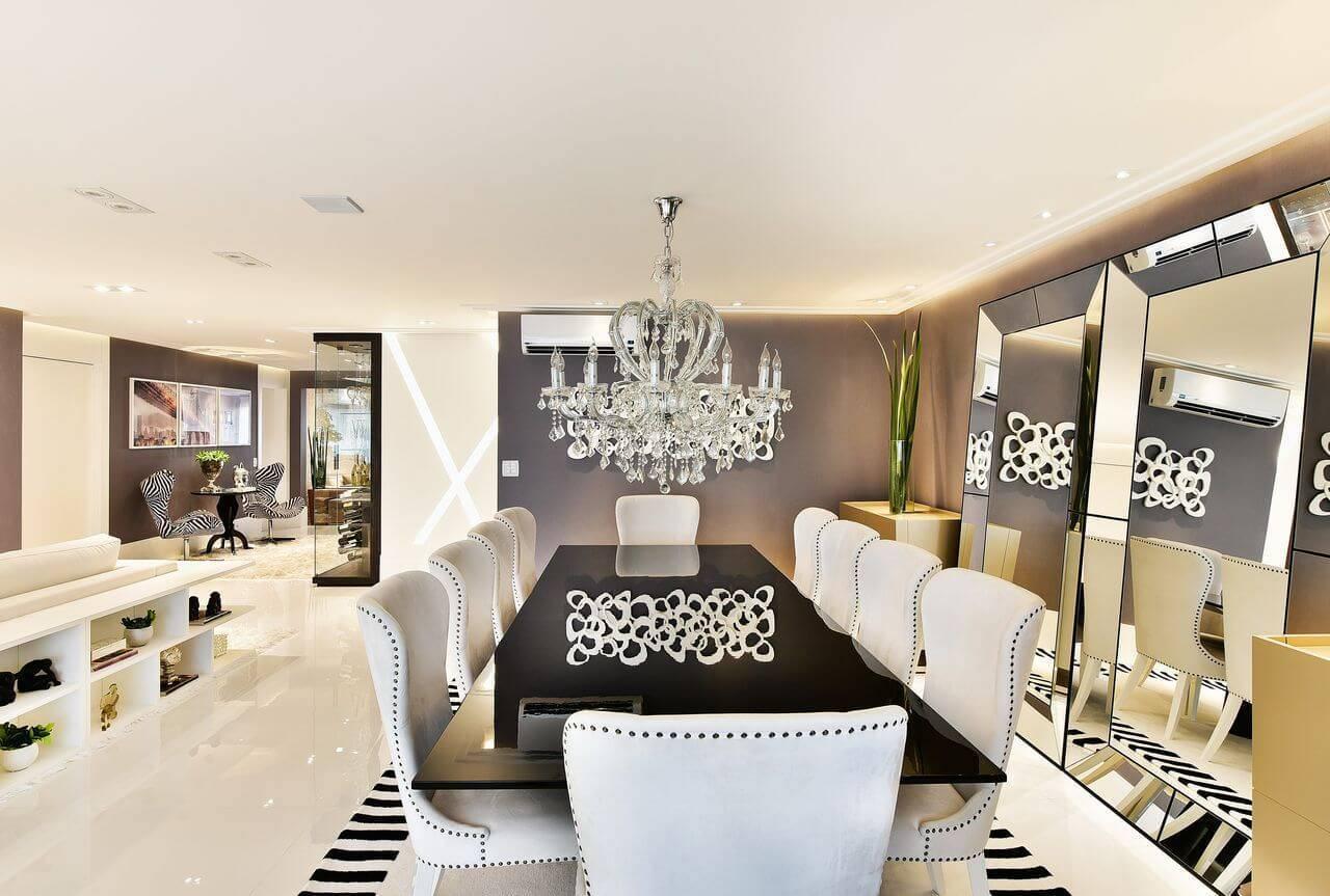 Tapetes para sala delimitando espaço para jantar Projeto de Tetriz Arquitetura