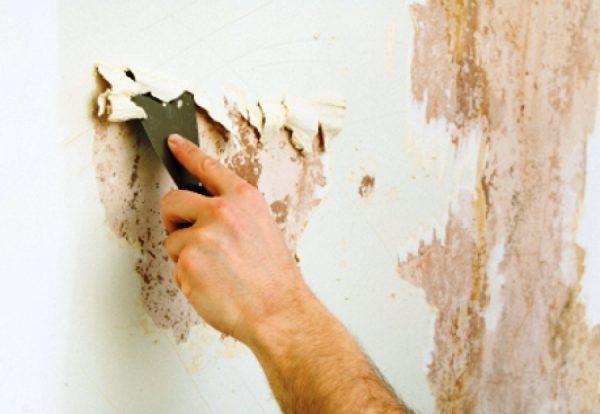 como tirar umidade da parede, primeiro raspe a tinta