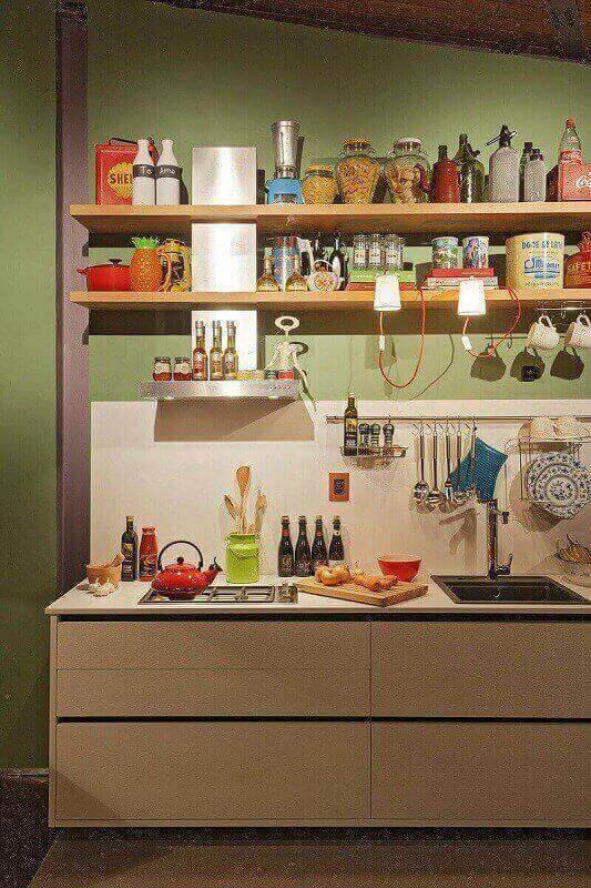 decoração de prateleira para cozinha Foto Isabela Bethonico