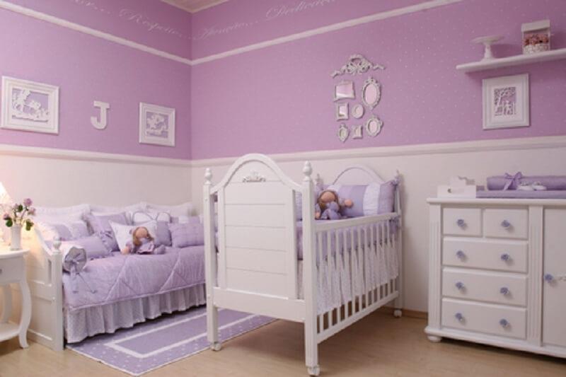 decoração de quarto de bebê lilás