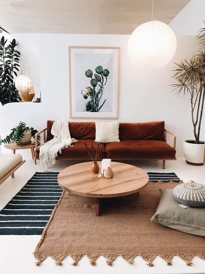decoração de sala de estar com dois tapetes diferentes Foto Cut & Paste