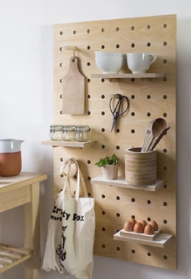 modelo de prateleiras criativas para cozinha Foto Meu Lar Minha Paz