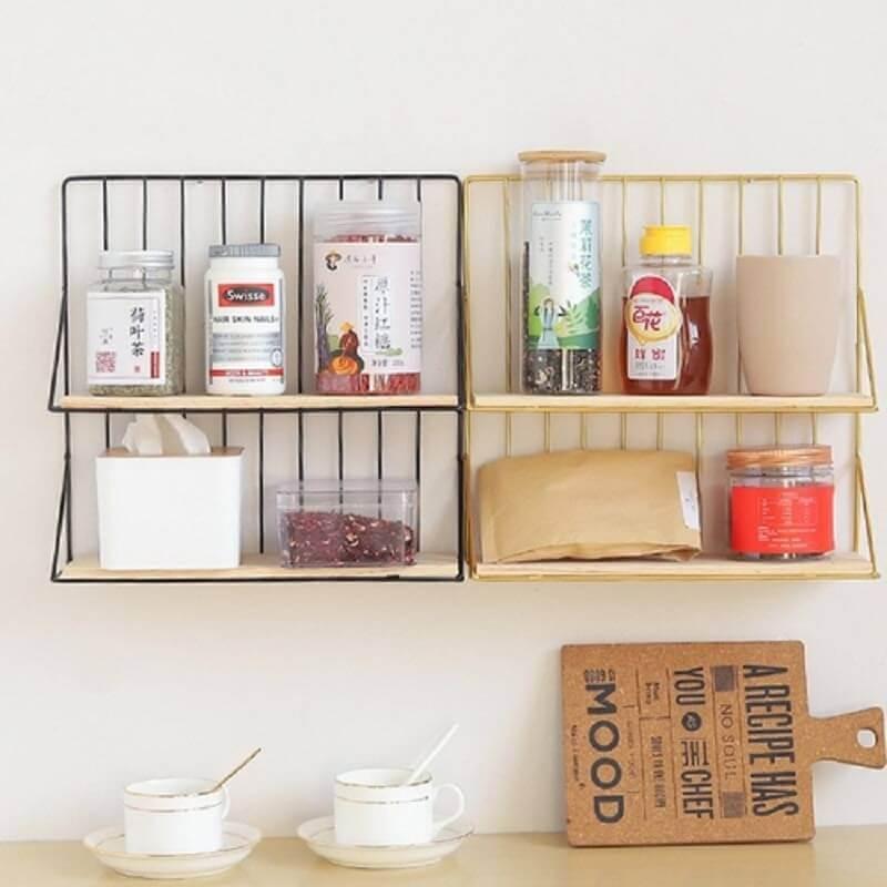 modelo de prateleiras criativas para cozinha Foto Pinterest