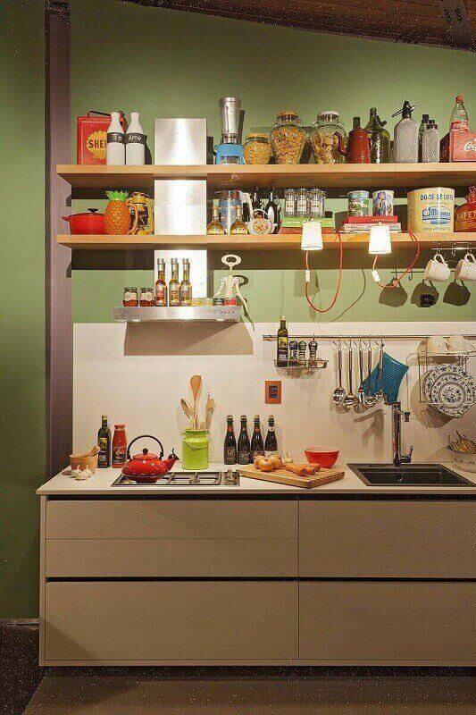 prateleira para cozinha divertida projeto de Isabela Bethonico