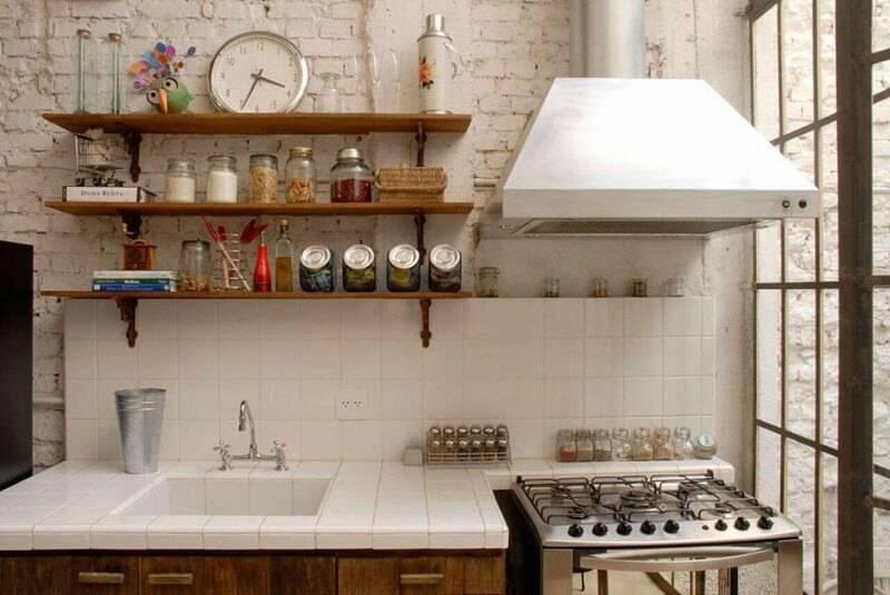 prateleira para cozinha pequena rústica projeto de estudio vitor penha