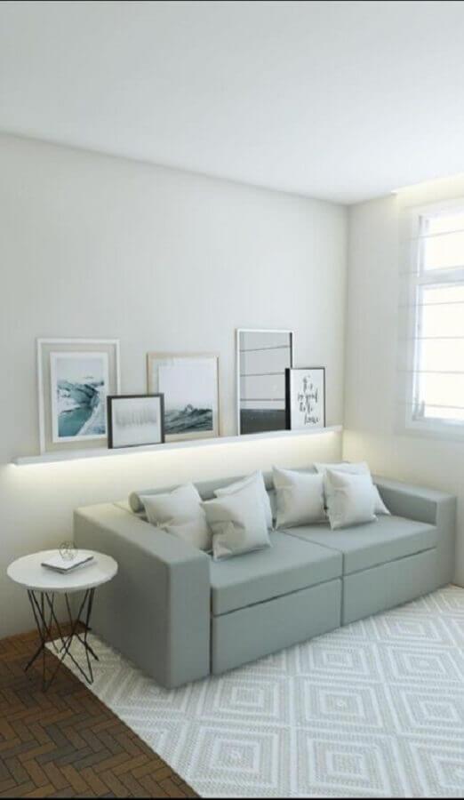 tapete para sala com decoração minimalista Foto Wood Save
