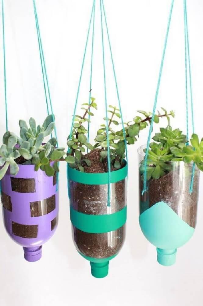 Artesanato com garrafas pet para horta