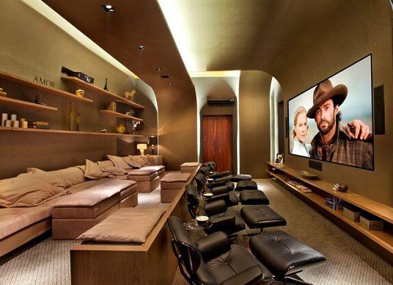 Automação residencial em home cinema Projeto de Guardini Stancati