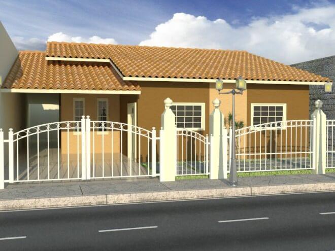 Casas pequenas moderna