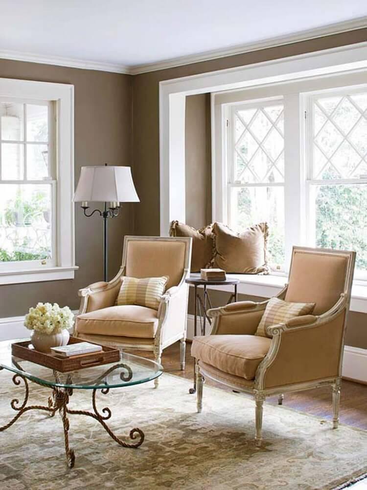 Clássicas poltronas para sala de estar