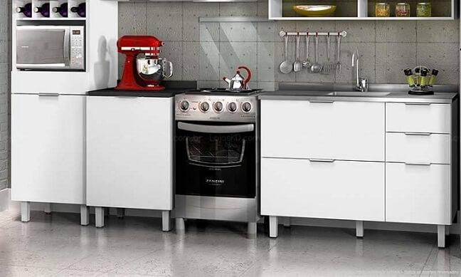 Cozinha modulada com nicho para garrafas Lojas KD