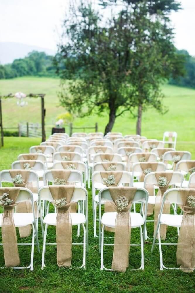 6. Decoração de casamento rústico.