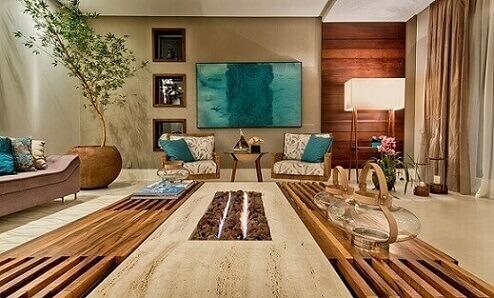 Living-relaxante-com-toques-de-azul-turquesa-Projeto-de-Espaço-do-Traço-1