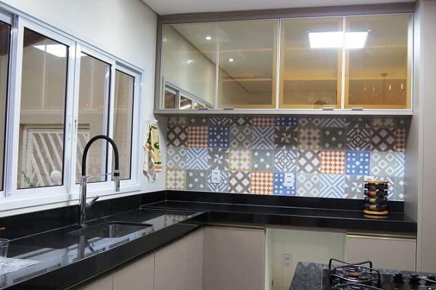 Pia de cozinha de granito preto com bancada de granito preto Projeto de Projeto Express